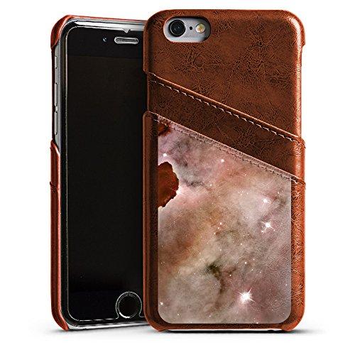 Apple iPhone 4 Housse Étui Silicone Coque Protection Galaxie Espace La colonne de poussière du brouillard Carina Étui en cuir marron