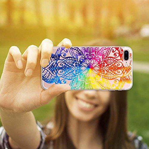 iPhone 7 Plus Hülle, WoowCase® [ Hybrid ] Handyhülle PC + Silikon für [ iPhone 7 Plus ] Französische Bulldogge Tier Mehrfarbige Design Handytasche Handy Cover Case Schutzhülle - Transparent Hybrid Hülle iPhone 7 Plus H0023