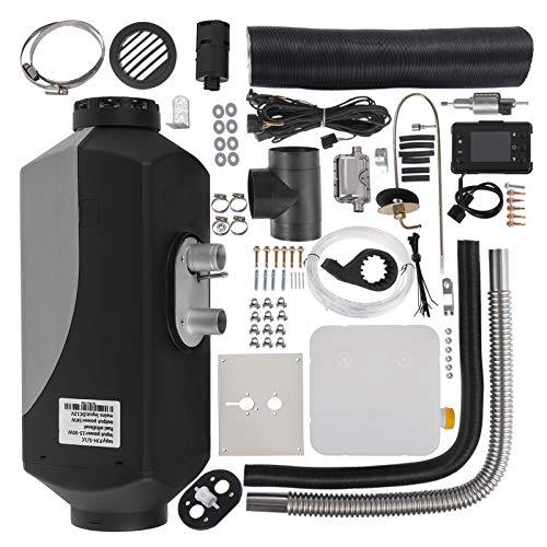 HODOY Riscaldatore Digitale 5Kw Termostato Diesel Riscaldatore Elettrico 12V Riscaldatore Elettrico a Gas Per Camper Camper e Autobus (12V 5Kw Con Silenziatore + Lcd)