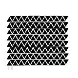TOOGOO(R)Ensemble de 152 Triangle Autocollants muraux mur Vinyle Decal Kids Art Mural Decor DIY Noir
