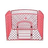 Corrales de exterior Valla para Perros Desmontable Perros Pequeños Y Medianos Barrera, Jaula para Animales Domésticos Jaula para Mascotas (Color : Pink, Tamaño : 100×100×75cm)