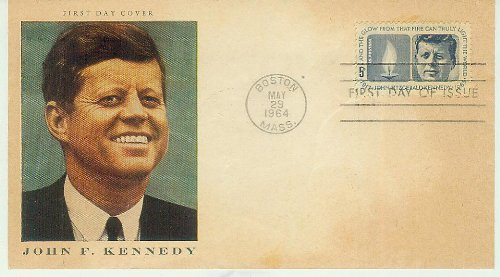 Ersttagsbrief - First Day Cover - John F. Kennedy - Boston 19. May 1964 - First Day Of Issue - gestempelt - nicht beschriftet - 5 c [Briefmarke 5 cent, Briefumschlag ] -