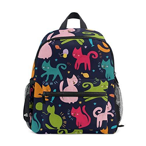 CPYang Kinder-Rucksack mit niedlichem Tiermotiv und Katzen-Motiv, für Jungen und Mädchen -