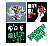 Green Day - Untersetzer 4er Set - Album Cover - American Idiot - Dookie - Drips - Logo