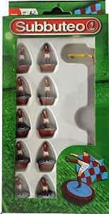 Subbuteo Football Team Set (Claret/ Blue)