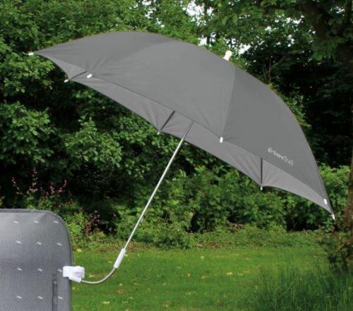 Stuhl-Sonnenschirm Farbe grau (Camping-stuhl Sonnenschirm)
