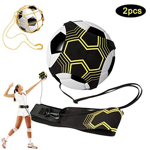 APERIL 2 Pack Fußball Trainer, Fußball/Soccer Trainer Zubehör, Einstellbar Fußballtraining Taille Gürtel für Anfänger Kick Off Trainer und Kinder -