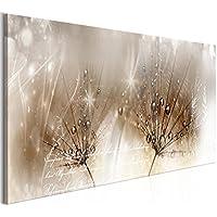 murando Quadro Soffione Fiori 135x45 cm - XXL Formato - Quadro su fliselina - Stampa in qualita fotografica - 1 Parte - Design Fiori b-C-0201-b-b