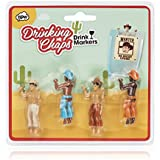 NPW-USA Drinking Buddies Cowboy Chaps Cocktail/Wine Drink Markers (Set of 4)
