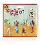 NPW Vaqueros Drinking Buddies Marcadores para Bebidas,, 3x1.6x6.2 cm, 4 Unidades