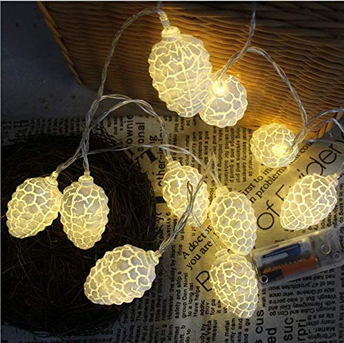 Explosion Modelle warme Farbe Riss Herbst Tannenzapfen 3 m 20 LED-Leuchten Schlafzimmer Zimmer Urlaub Party Dekoration Sternenlichter Zeichenfolge -