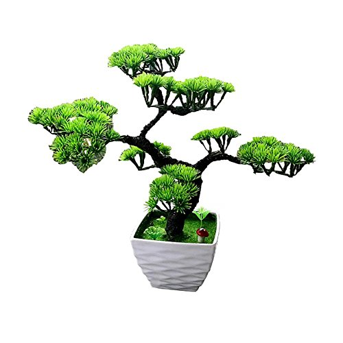Künstliche Bonsai Baum Kunstpflanze Pflanze,Dekoration Wohnung Modern Pinien,Feng Shui Japanische Deko,Kunstbaum
