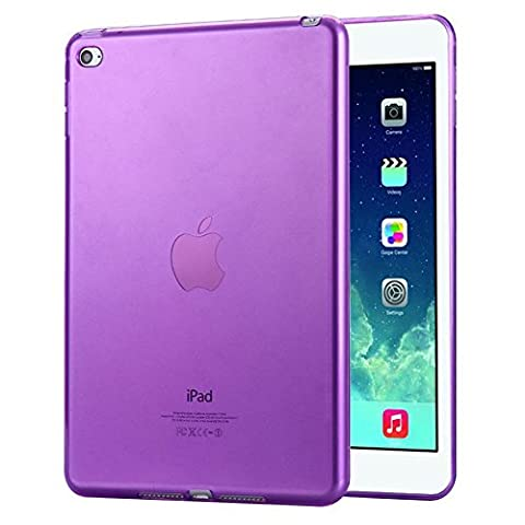 FAS1 iPad 2/3/4 Case Cover,NEW Clear Soft TPU Skin Gel Silicone Back Case Protector for Apple iPad 2/3/4 (Purple)