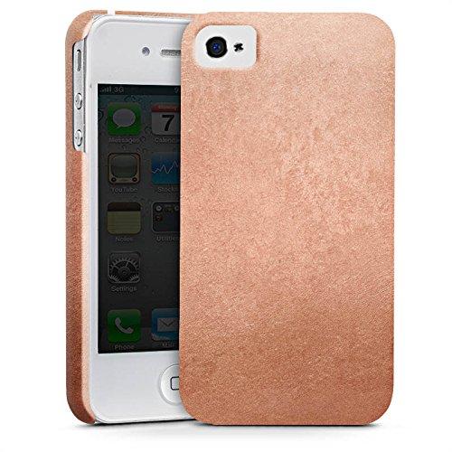 Apple iPhone X Silikon Hülle Case Schutzhülle Metall Rose Gold Look Premium Case glänzend