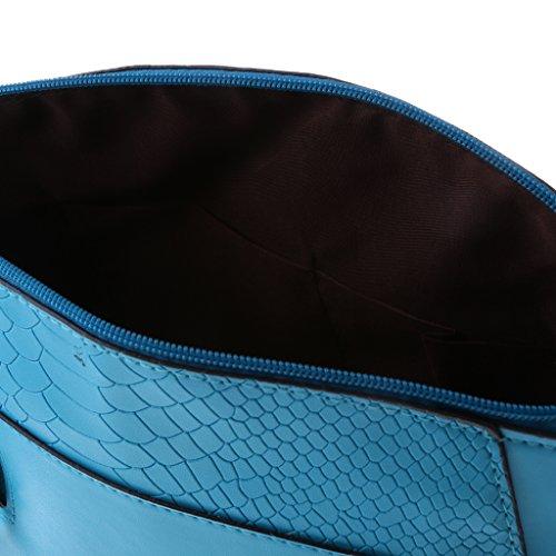 MagiDeal Moda Borsa Spalla Borsette da Polso Pochette da Giorno per Donna - Arancia Blu