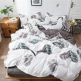 DOTBUY Parure de lit, 4 pièces Housse de Couette Microfibre Confortable Ensemble de Literie Chambre à Coucher Élégant Classique Lit Imprimé Draps et Taies d'oreiller
