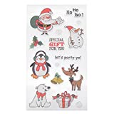 YNuth Timbri in Silicone Colorato Stampo Natale Modello per DIY Scrapbooking Francobollo Clear Stamp