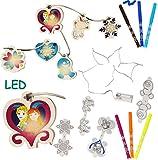 alles-meine.de GmbH Malset / Bastelset - Lichterkette LED -  Disney die Eiskönigin - Frozen  - ..