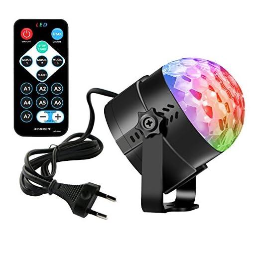 Leoker Discokugel Disco Party Licht Lichteffekte LED RGB Dj Musik Strobe on
