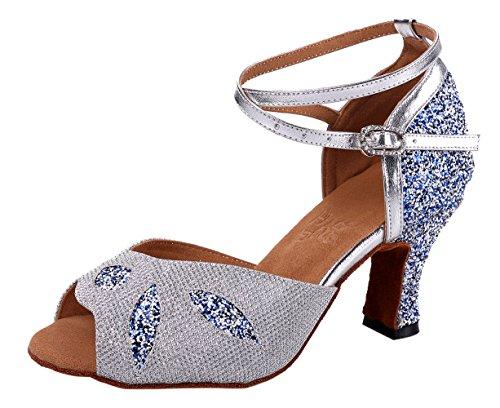 honeystore-frauens-blatt-funkelnde-glitzer-heels-sandalen-latin-mit-knochelriemen-tanzschuhe-silber-