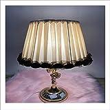 KQPAMYH Abat-Jour Abat-Jour pour Lampe de Table Fleur Motif Dentelle Textile Tissus Abat-Jour décoratif de Couleur Chocolat Clair