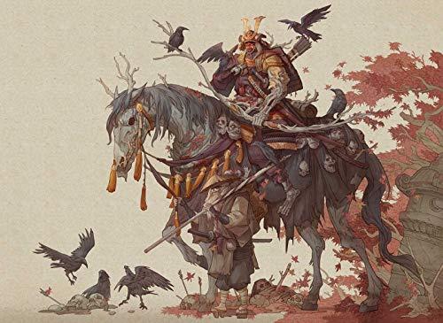 Erwachsene 1000 Teile Skelett Ritter Monster Und Krähe.Die Beste Wahl Für Geschenke Und Dekompression ()