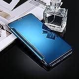 Housse Etui Coque Pour Samsung Galaxy C9 / C9 Pro, étui de protection arrière en miroir de galvanoplastie ( Color : Blue )