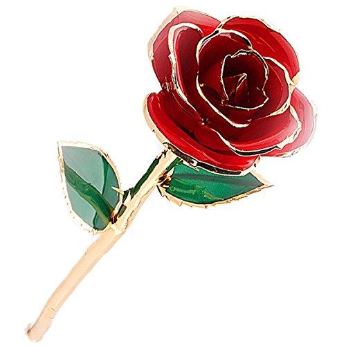 Rose Fiore LOVE FOREVER Placcato 24k Oro, 29 cm, Fatto a Mano, con Scatola Regalo, Ottimo Regalo per San Valentino, La Festa della Mamma, Natale, Compleanno, Matrimonio