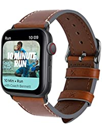 Fullmosa 8 Colors Apple Watch Strap 42mm 44mm 38mm 40mm Calf Leather iWatch Straps compatible with Apple Watch Series 5 4 3 2 1