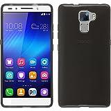 PhoneNatic Coque en Silicone pour Huawei Honor 7 - transparent noir - Cover Cubierta + films de protection