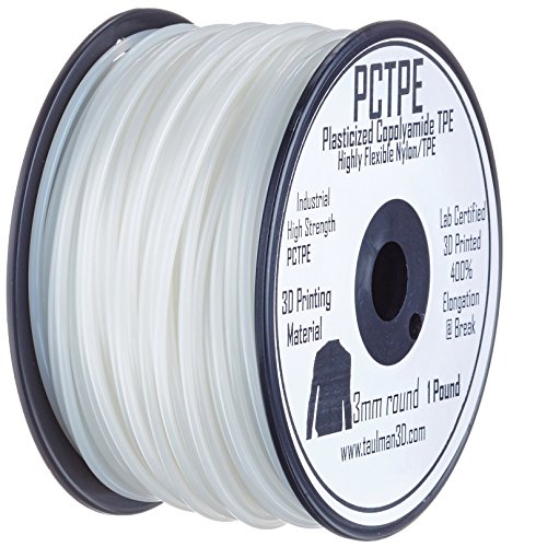 Taulman PCTPE Plasticized Copolyamide TPE Filament - 3.00mm - 0.45 kg spool - Clear -