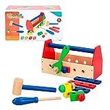 WOOMAX- Caja de herramientas de madera (Color Baby 42751)