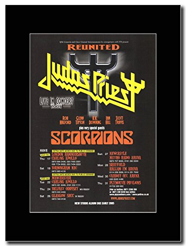 Judas Priest–Reunited UK Tour Termine 2005.. Extra.... Magazin Promo auf A schwarz Mount