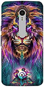 The Racoon Grip printed designer hard back mobile phone case cover for Motorola Moto X Style. (The Lions)
