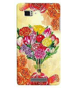 Fuson 3D Printed Flower Designer back case cover for Lenovo K910 - D4559