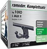 RAMEDER Komplettsatz, Anhängerkupplung abnehmbar + 13pol Elektrik für FORD C-MAX II (136188-08995-12)