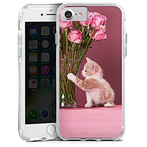 Apple iPhone 6s Bumper Hülle Bumper Case Glitzer Hülle Kitten Baby Katze Cat Bumper Case transparent
