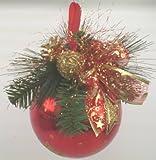 My Home Weihnachts-Dekokugel, rot