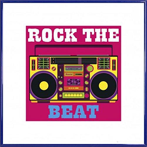 1art1® Lifestyle Póster Impresión Artística con Marco (Plástico) - Rock The Beat (40 x 40cm)