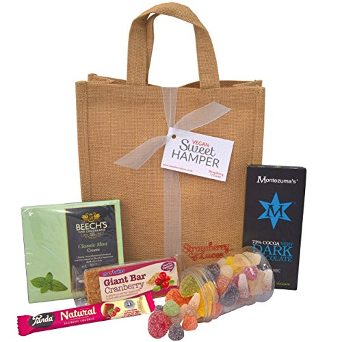 Vegan Sweet Hamper Bag - Sweets, Treats & Chocolates - Great Vegan & Vegetarian Gift for Birthday, Christmas, Mother's Day, Easter etc!