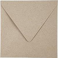 Sobres de papel reciclado, medidas 16x16 cm, 120 gr, natural, 50x20ud