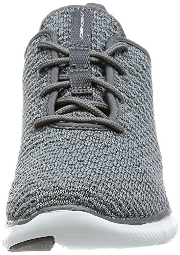 Skechers Flex Appeal 2.0-Bold Move, Sneaker Infilare Donna Grigio (Charcoal)