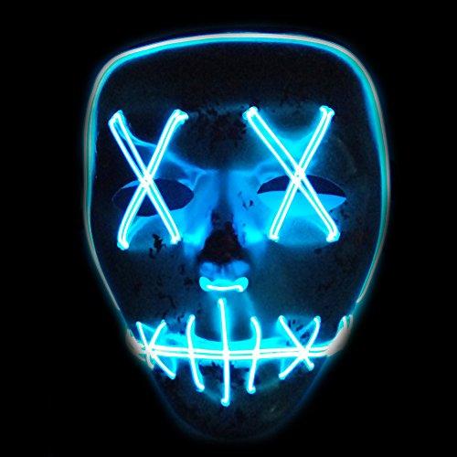 lzn leuchtet Maske aus dem Purge Wahl Jahr Maske Fest Halloween Cosplay (Kaltes (Halloween Maskes)