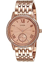 Guess Analog Rose Gold Dial Women's Watch - W0573L3