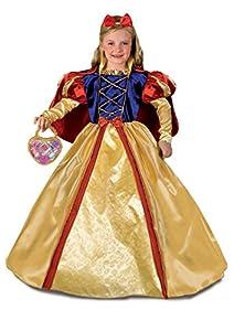 FIORI PAOLO 27136-Blancanieves Disfraz Niña con bolso y maquillaje, 4-5años, amarillo/rojo/azul