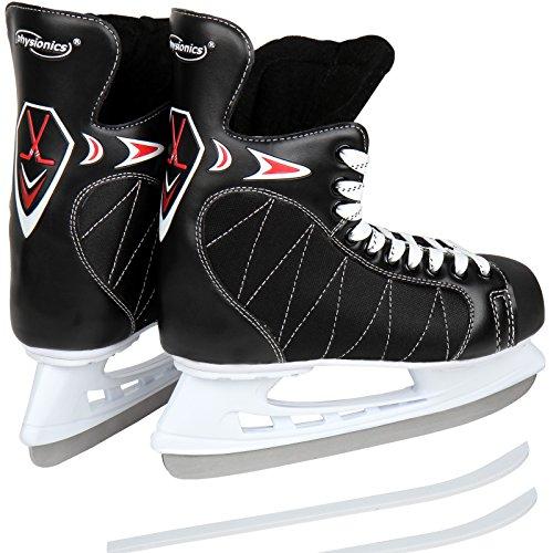Physionics Eishockey-Schlittschuhe mit flexiblem Oberflächenmaterial - Größe 40 bis 46 (46)