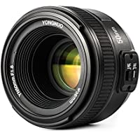 Yongnuo YN 50MM f/1.8 AF Lente Objetivo (Apertura F/1.8) F Mount, AI Mount para Nikon DSLR Cámara Fotografía, Enfoque Automático de Gran Apertura, Color Negro + TARION bolsa