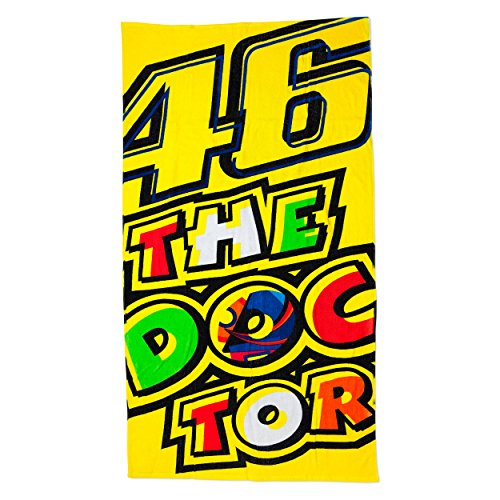 VR46 Rossi Beach Towel the Doctor, Yellow, One size (Strand-handtuch-bike)