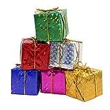 Weihnachtsdeko Geschenkboxen 24 Stück Christbaumschmuck 5cm Geschenkbox Baumschmuck Weihnachtsbaum Deko