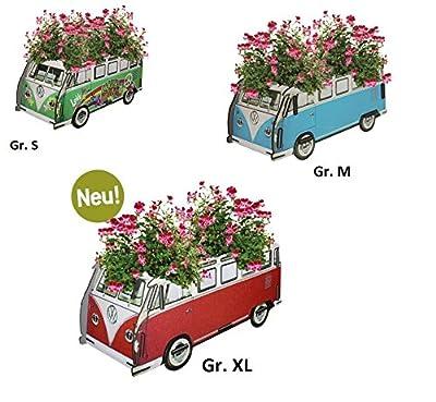 NEU Werkhaus VW Bully T1 Farbe Blau Blumenkasten VW T1 - Gr. S Maße: (H x B x T) 11 x 15,5 x 29 cm von Werkhaus bei Du und dein Garten